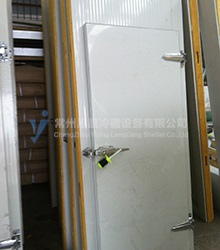 Easy crystal cold storage door